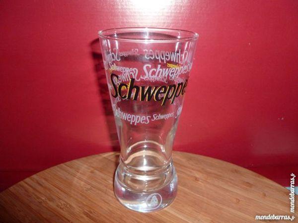 T33: 6 verres SCHWEPPES évasés logo noir 8 Vauréal (95)