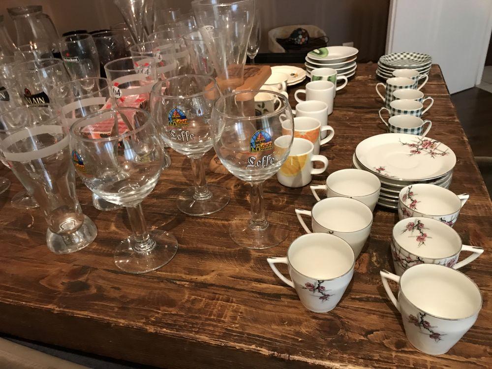 Lot verres, tasse à café ... 20 Lille (59)