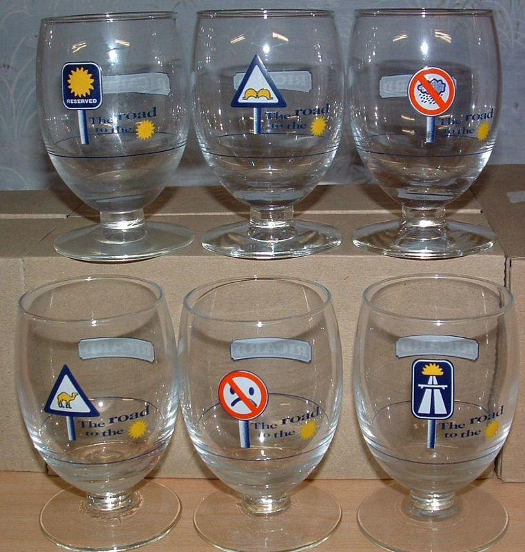 6 verres très très rares RICARD 70 Montcy-Notre-Dame (08)