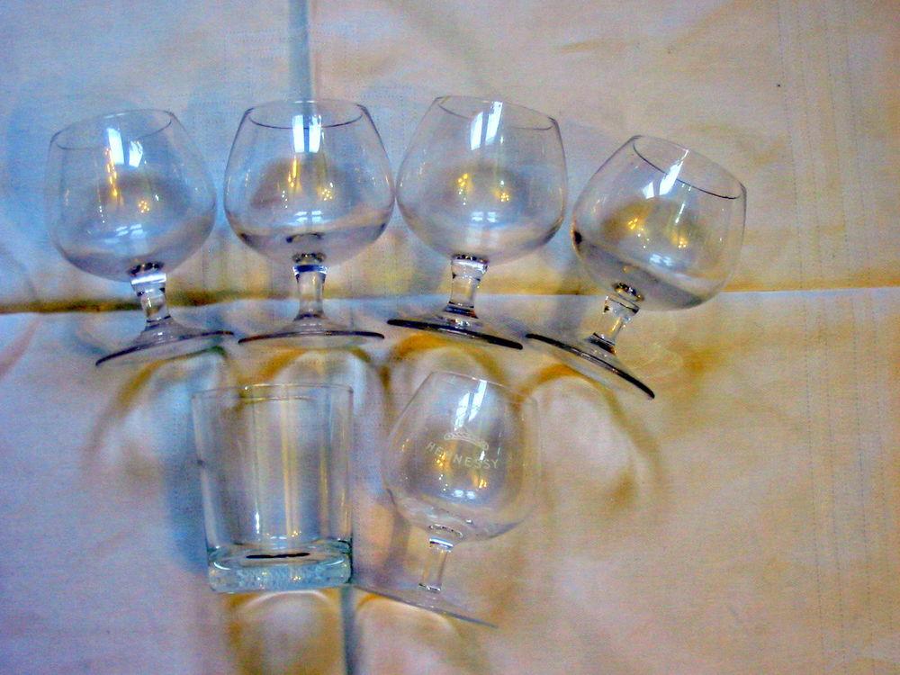 Lot de 6 verres en verre Réf: Uc 3 4 Pantin (93)