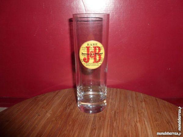 T33: 6 verres à whisky J.B, logo rouge/fond jaune 9 Vauréal (95)