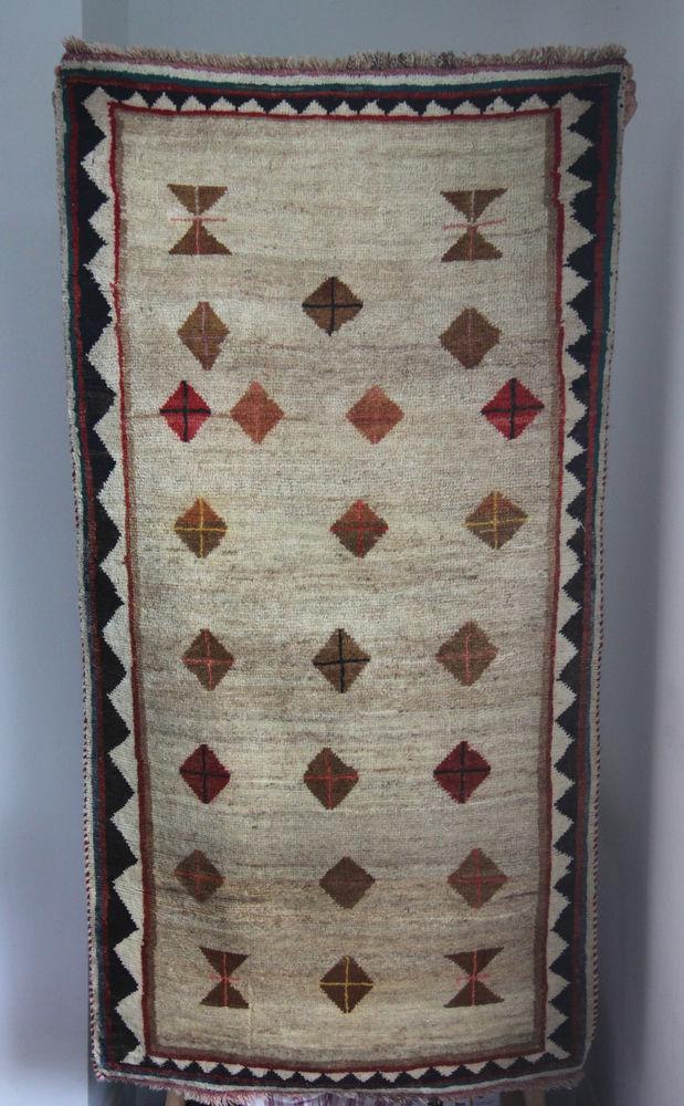 Vertiable tapis persan Gabbeh fait a la main 600 Paris 19 (75)