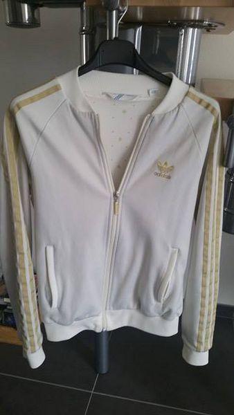 Veste adidas original blanche dorée