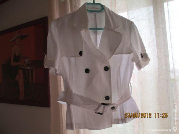 veste T 44 CAMAIEU lin blanche 15 Alfortville (94)