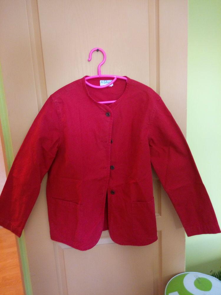 Veste coton rouge 5 Lanneray (28)