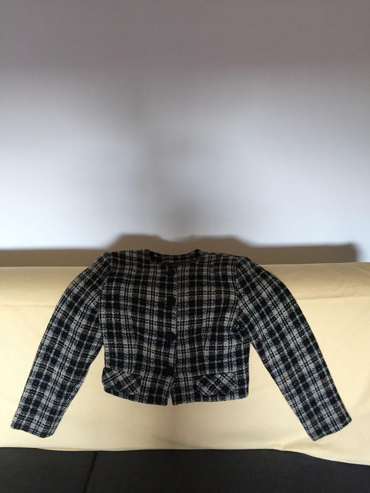 Veste courte à carreaux fantaisie, taille 36 25 Paris 19 (75)