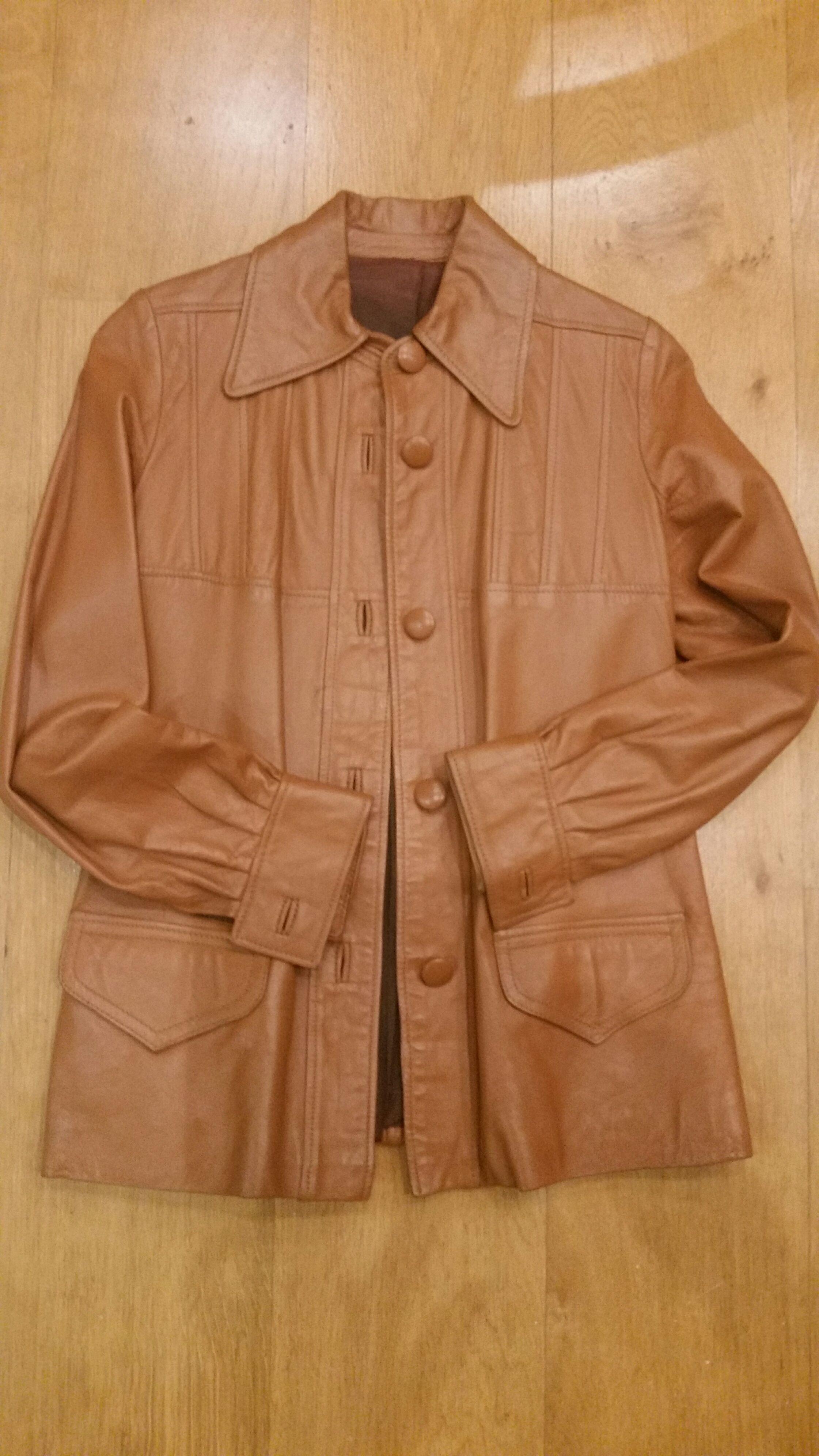 Veste en cuir couleur camel 90 Neuilly-Plaisance (93)