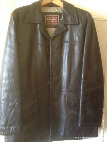 veste cuir Marlboro XL Vêtements