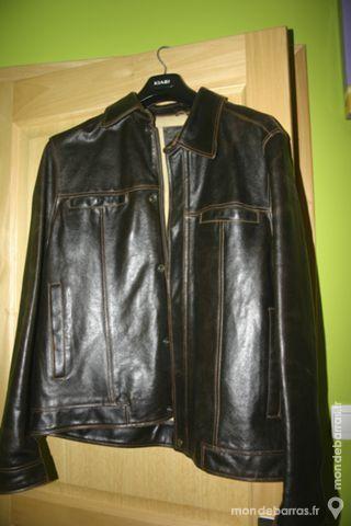 Veste en cuir marron homme 50 Montigny-en-Ostrevent (59)