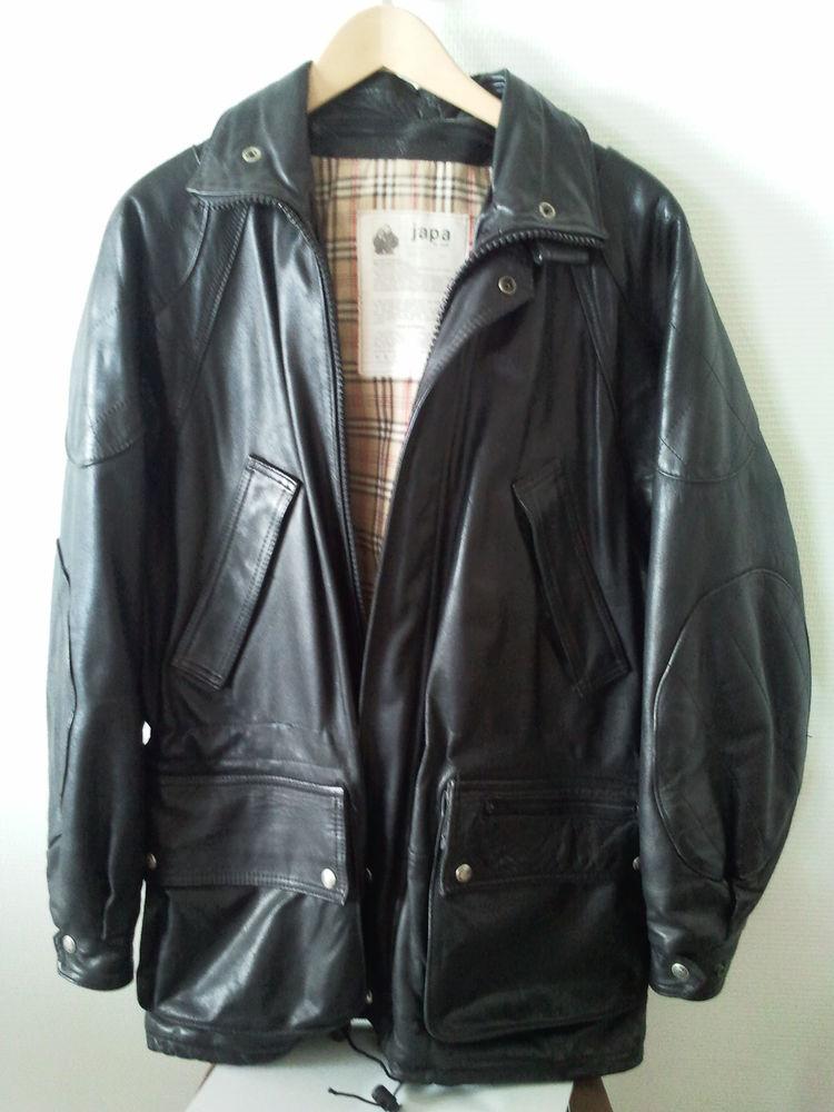 Veste cuir noir d'hiver 20 Bordeaux (33)