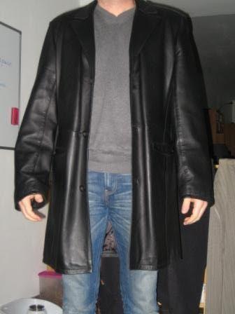 veste 3/4 cuir noir homme 90 Saint-Omer (62)