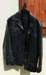 Veste en cuir noir de buffle 20 Saint-Martin-d'Hères (38)
