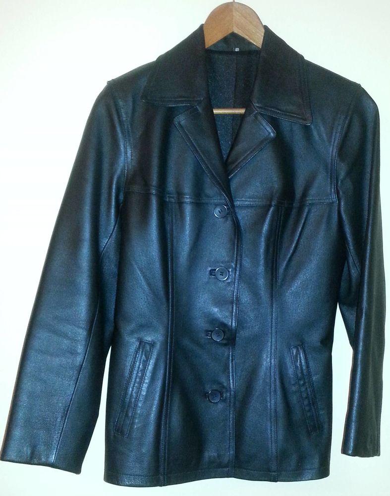 Veste en cuir noir 45 Marignane (13)