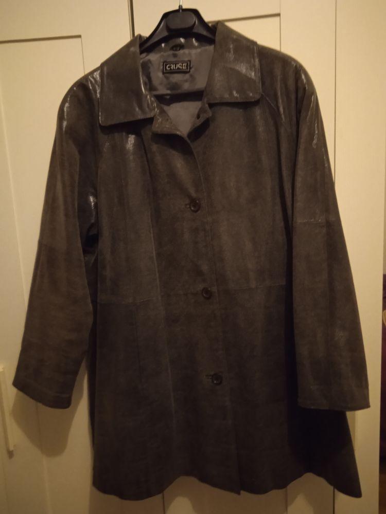 Veste cuir véritable femme noir/gris 25 Mantes-la-Jolie (78)
