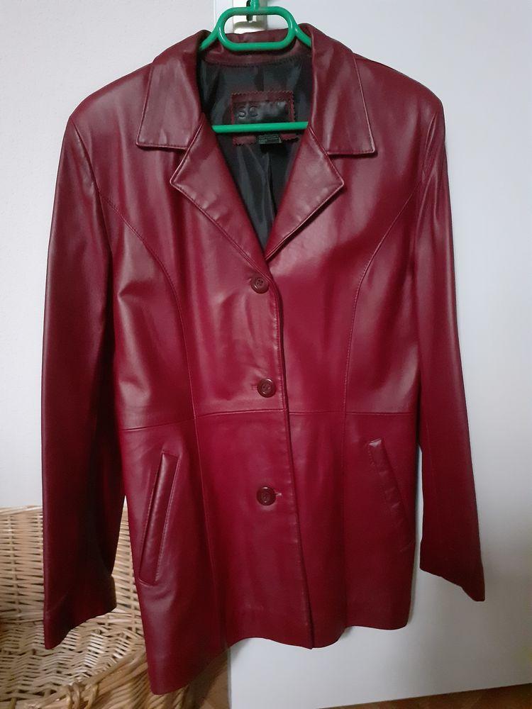 Veste femme droite rouge bordeaux 50 Seix (09)