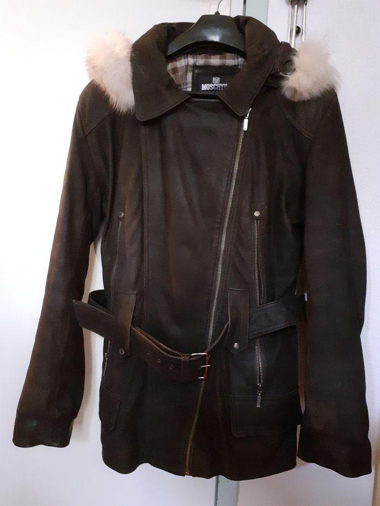 Veste femme marron cuir suedine 60 Seix (09)