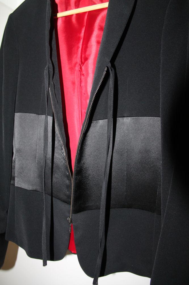 Veste femme noire bi-matière, T38 10 Moussy-le-Vieux (77)