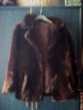 Veste fourrure marron 'synthetique'