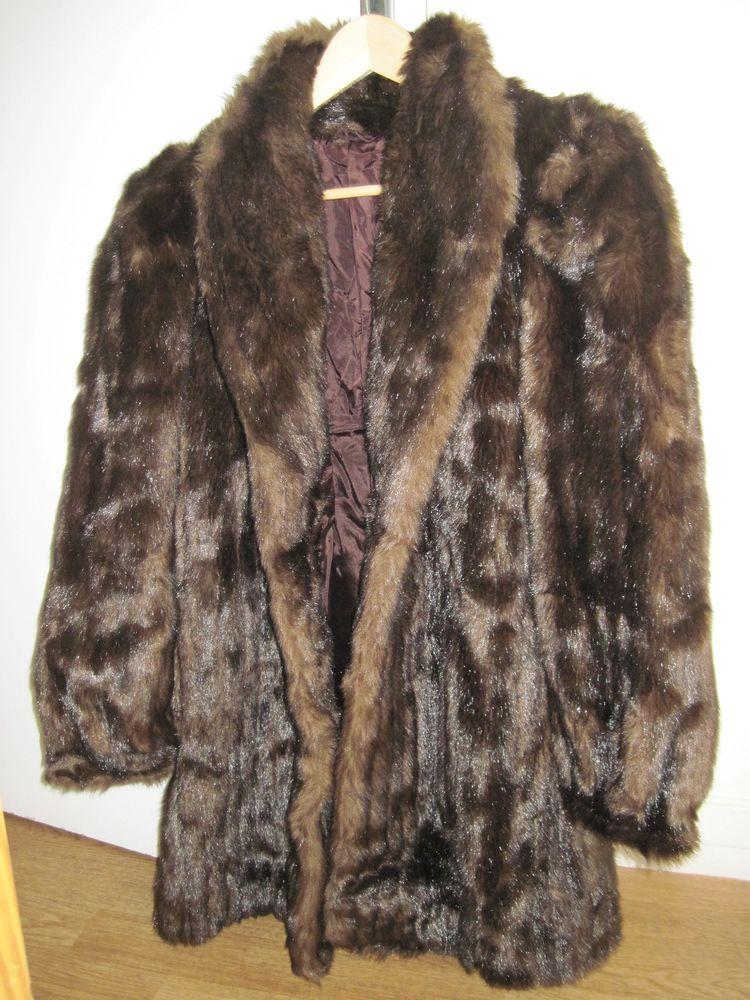 Veste fourrure style vision-- comme neuve Vêtements