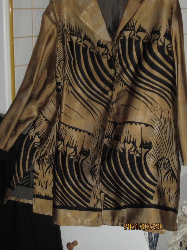 veste habillée mordorée avec motifs noirs 15 Saint-Alban-de-Roche (38)