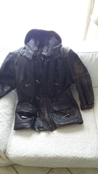 Veste 3/4 Homme en cuir épais, marron Taille L 100 La Trinité (06)
