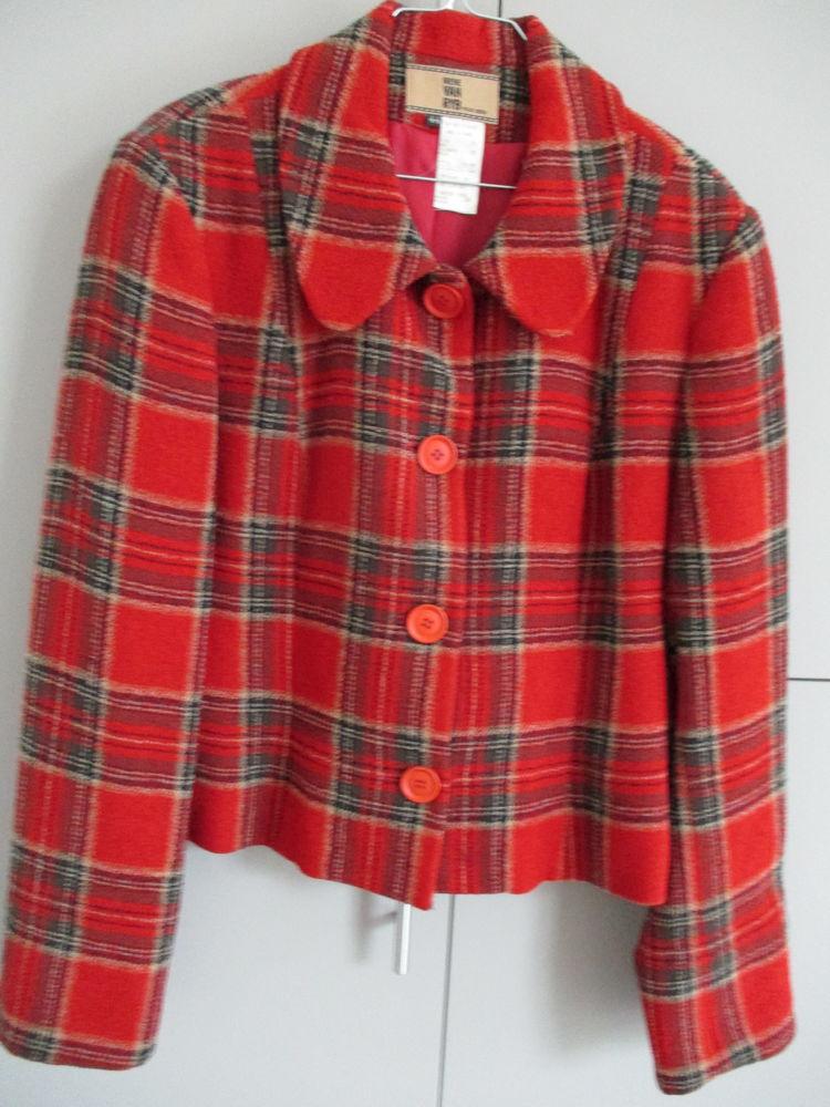 Veste laine Irène Van Ryb / Capeline fourrure 1950 Vêtements