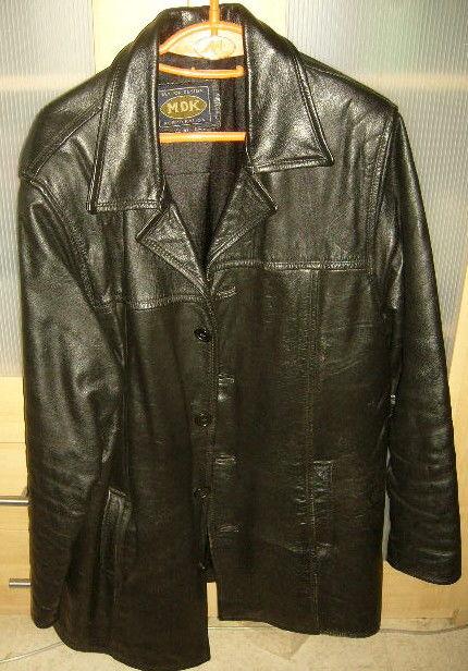 Veste longue entierement cuir épais  noir major design MDK 90 Versailles (78)