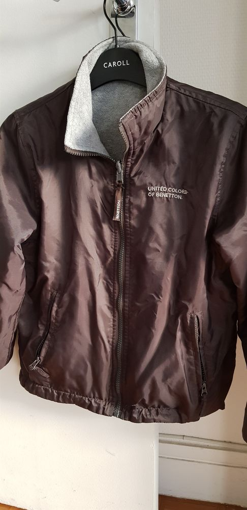 Veste marron/grise Benetton garçon 10 Paris 20 (75)