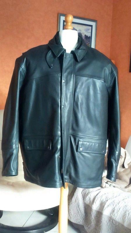 Veste motard,Cuir vachette Homme SOUBIRAC, tous temps, taill 460 Gargenville (78)