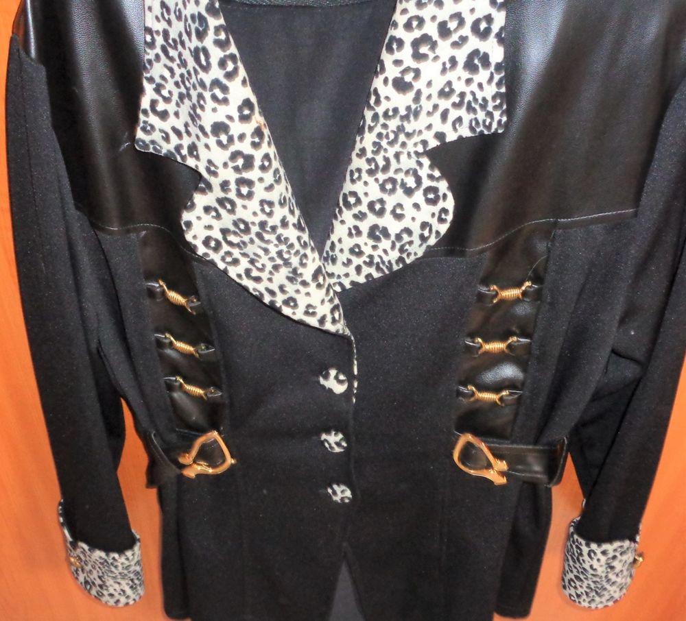 veste noir touches peaux vache ,t44,46, comme neuve 35 Argenteuil (95)