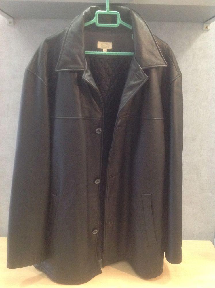 Veste noire cuir Burton  60 Vence (06)