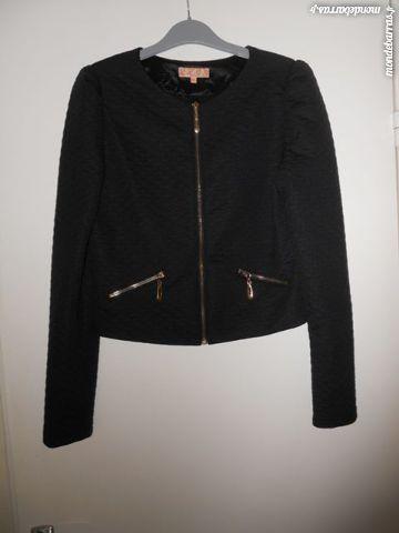 Veste noire marque originale L.C FASHION, neuve Vêtements