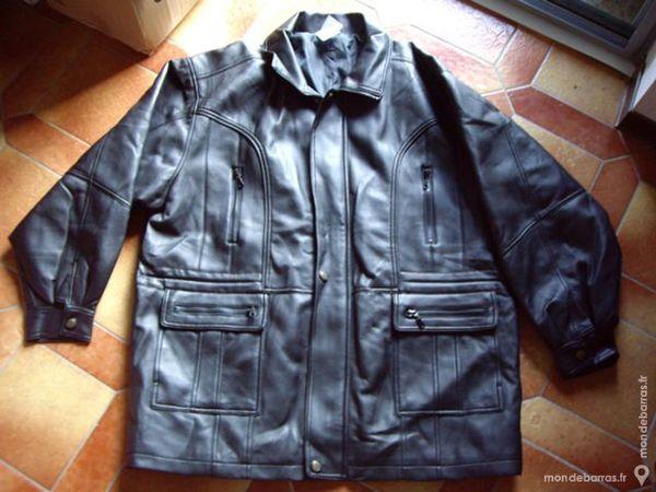 Veste Simili Cuir Homme Taille 56 Vêtements