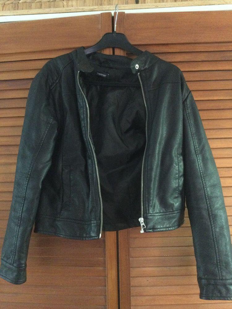 Veste simili cuir noire 12 ans 10 Teillé (44)