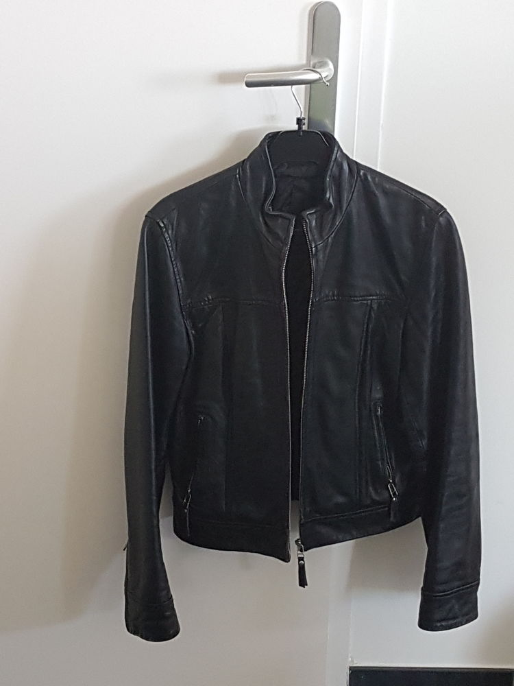 Veste style motard femme en cuir Agneau  Nappa   0 Hem (59)