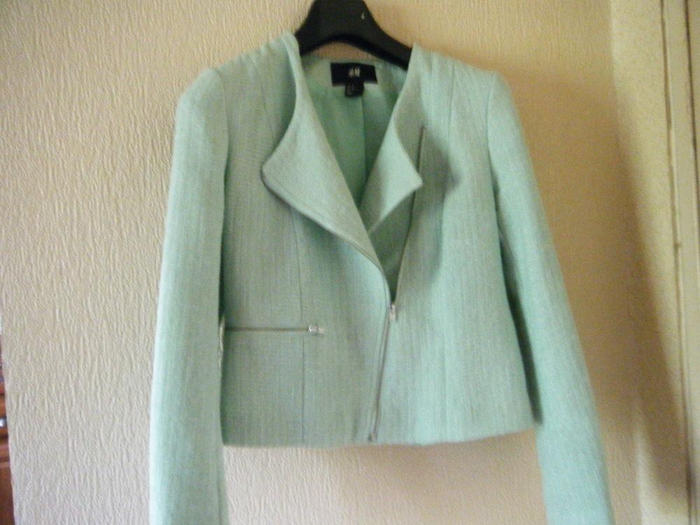 veste style perfecto vert pâle 15 Thise (25)
