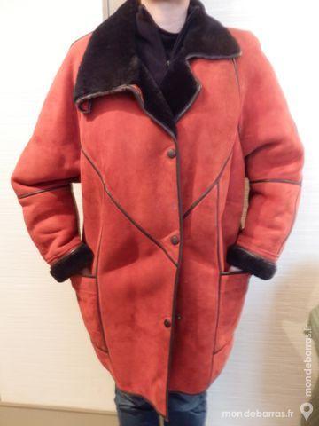 Veste trois quart en peau lainée Vêtements