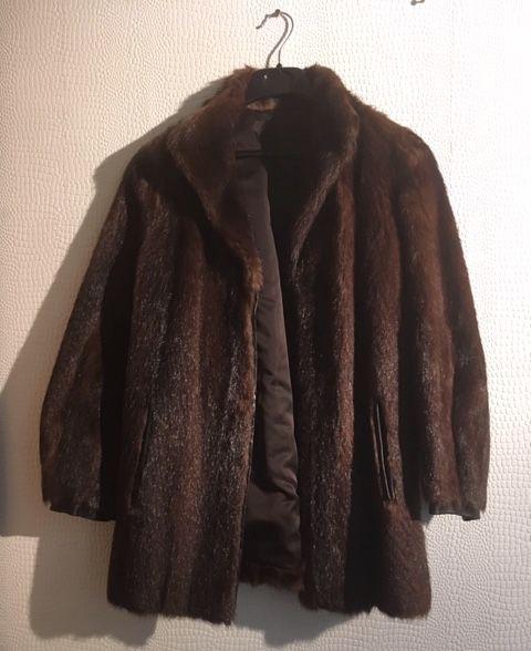 VESTE VISON BORD CUIR Vêtements