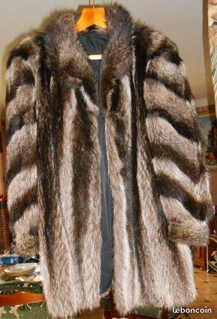 Veste vison fourrure veritable t38 1000 Canet-en-Roussillon (66)