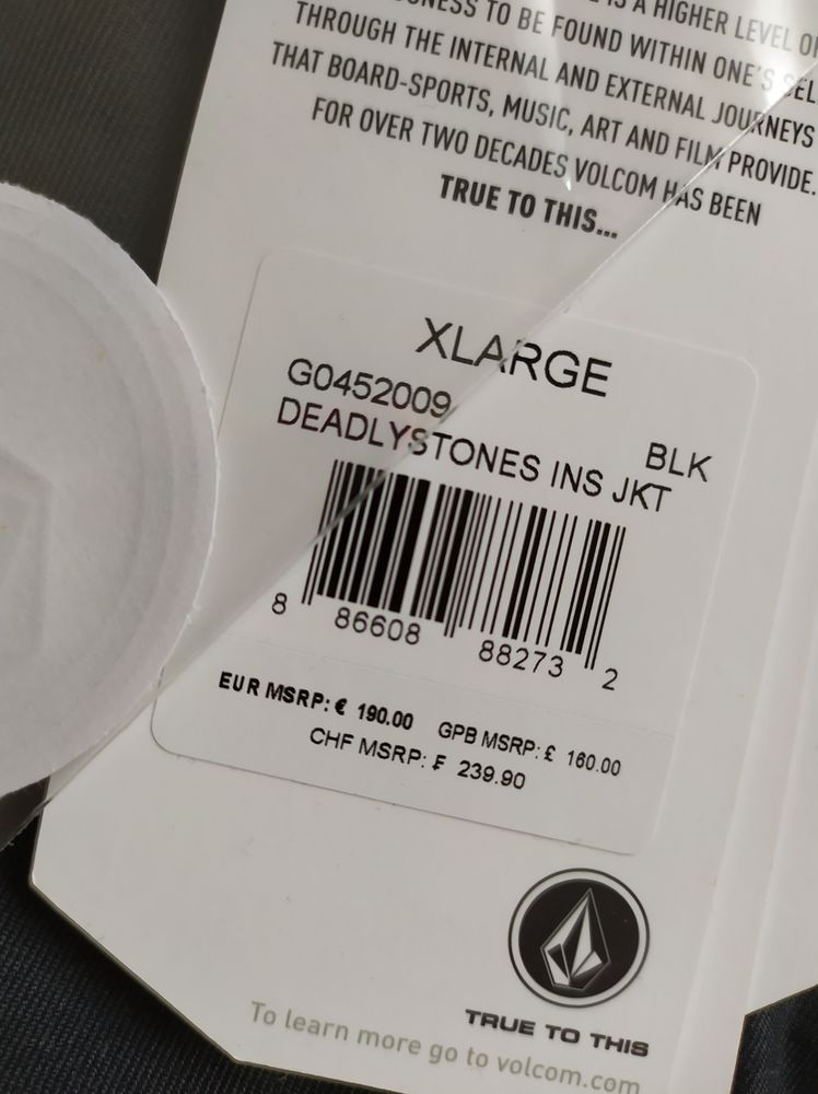 VESTE VOLCOM homme taille XL avec étiquette, jamais portée. 150 Lyon 2 (69)
