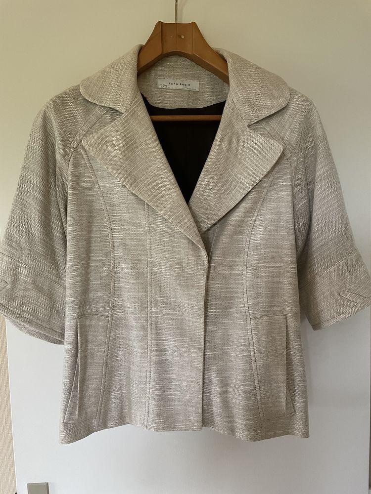 Veste d'été Zara en Lin Taille L 20 Blaye (33)