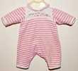 Vêtement pour poupée Corolle 36 cm. Pyjama rose et blanc.