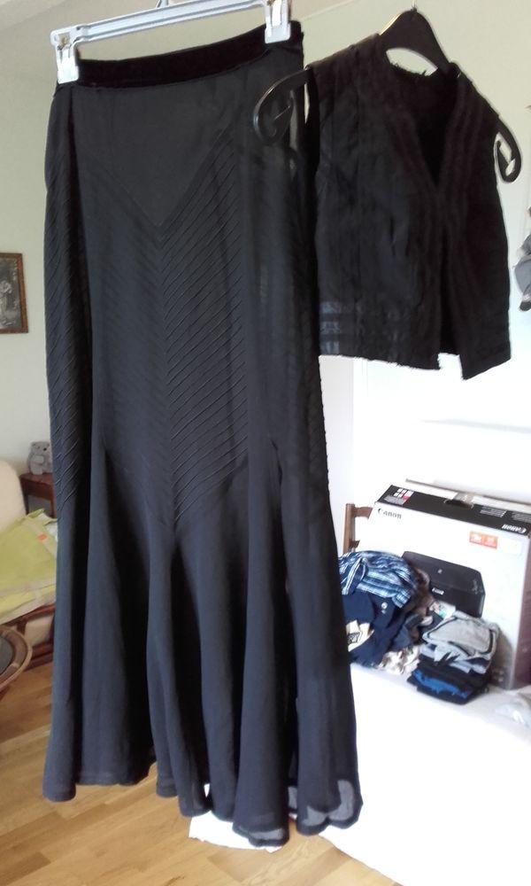 Vêtements Anciens *Jupe et  Gilet de Fêtes ** 45 Nervieux (42)
