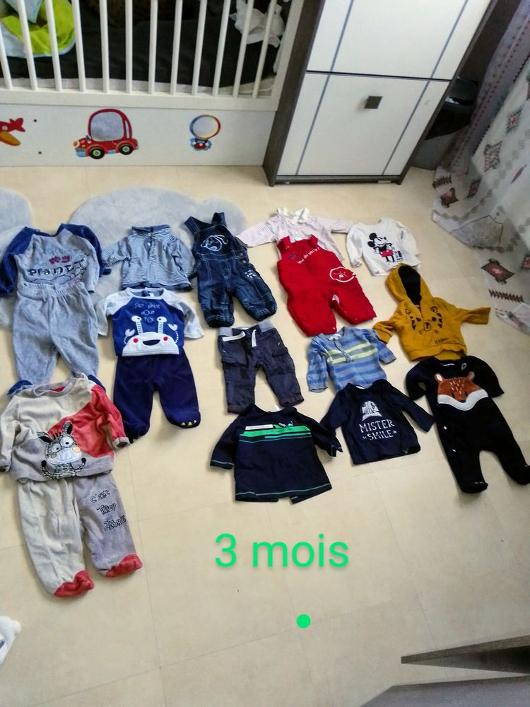 Vêtements bébé garçon 3 mois 25 Thouars (79)