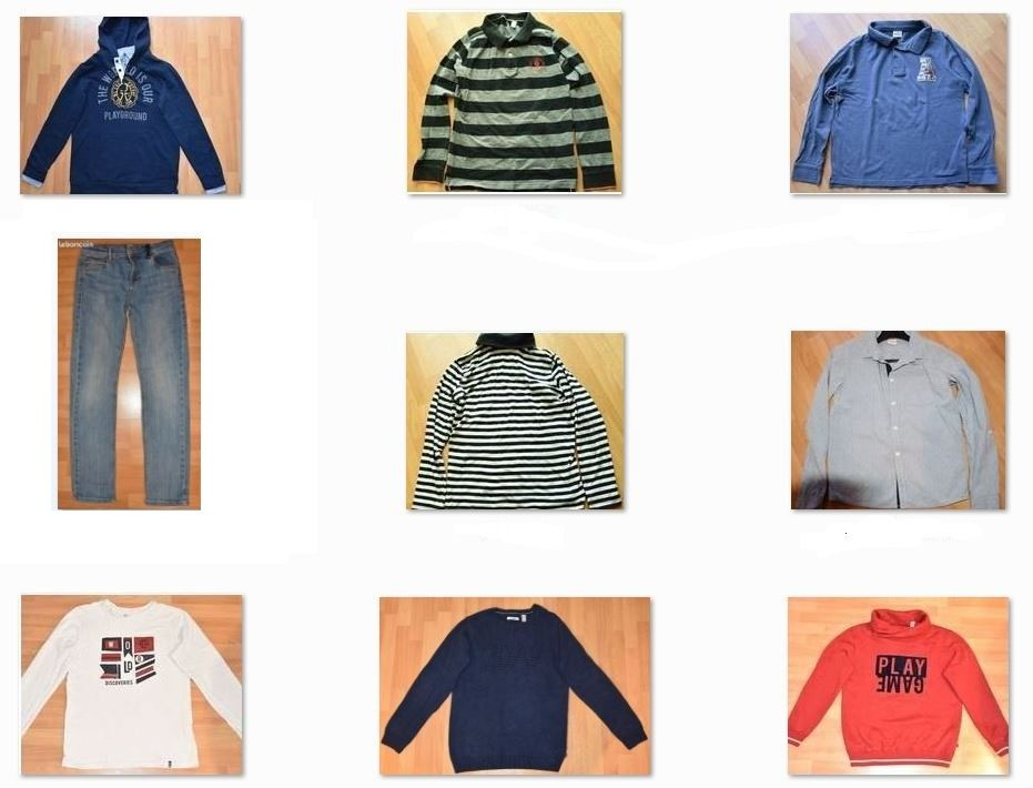 Lot de 9 vêtements enfant.12 ans. Jean, Pull, Sweat, Polo,  36 Gujan-Mestras (33)