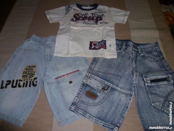 Lot vêtements garçon 4 ans short jean & TShirt TBE 12 Issou (78)
