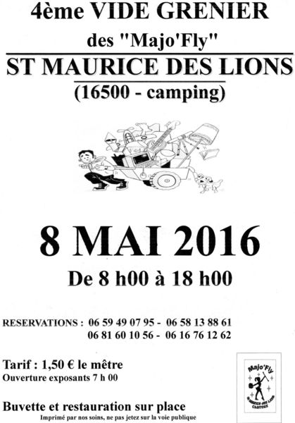 Vide grenier des Majo'Fly 0 Saint-Maurice-des-Lions (16)