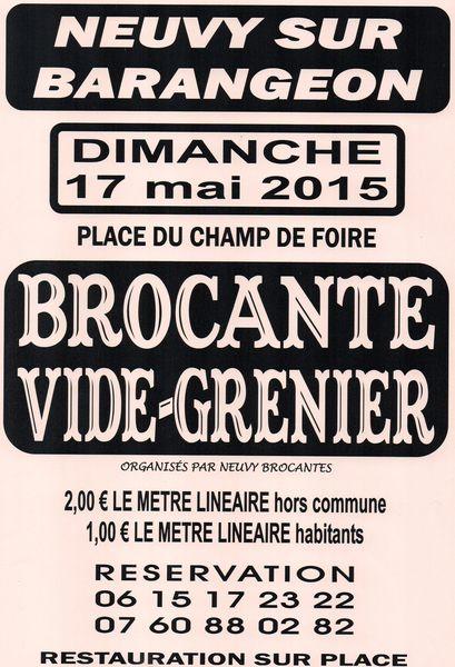 VIDE GRENIER 0 Neuvy-sur-Barangeon (18)