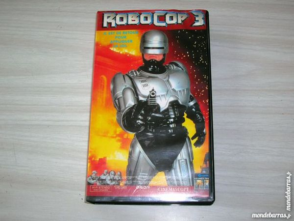 K7 VIDEO VHS ROBOCOP 3 DVD et blu-ray