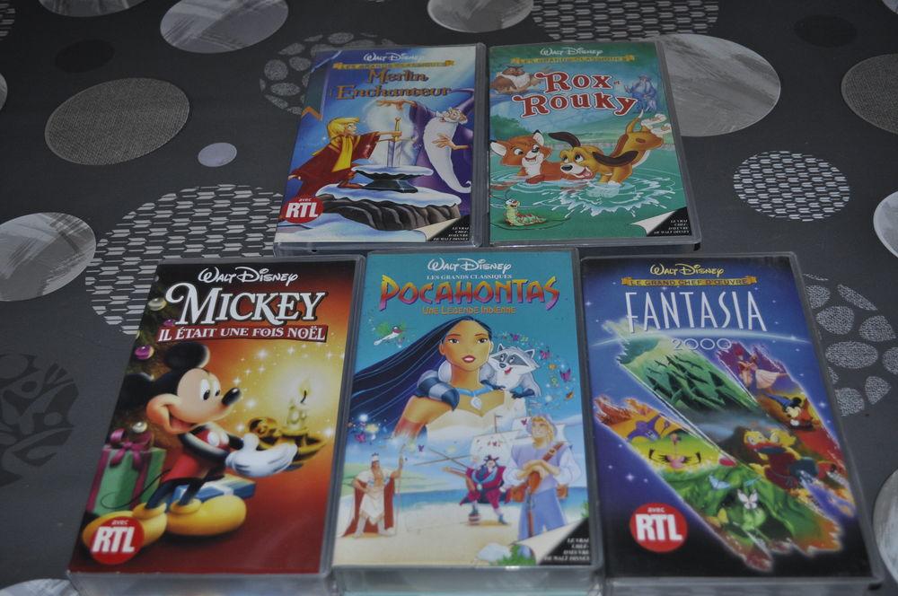 Lot de 5 vidéos Disney avec entre autre  Fantasia  5 Perreuil (71)